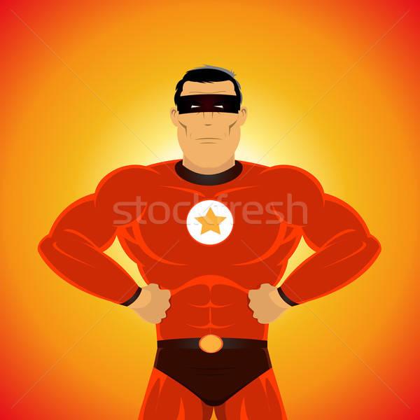Comic-like Super-Hero Stock photo © benchart