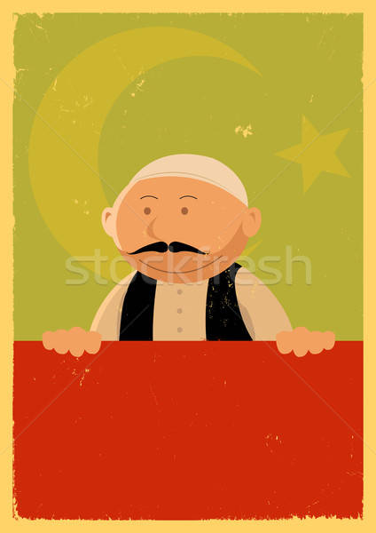 Turco cocinar banner ilustración Cartoon chef Foto stock © benchart