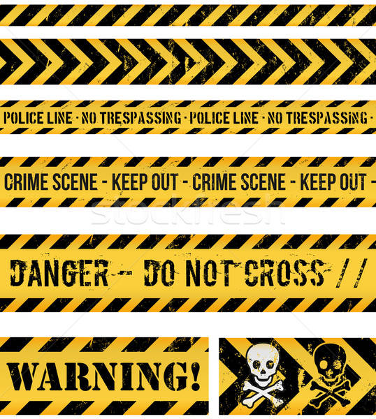 полиции линия преступление предупреждение бесшовный иллюстрация Сток-фото © benchart