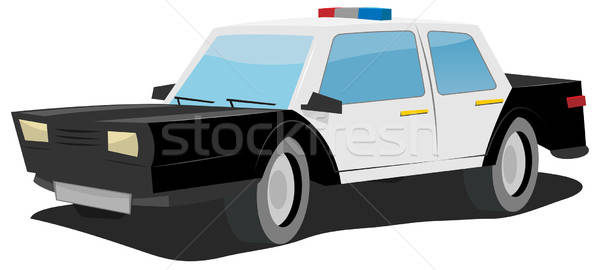 Cartoon Police Car Stock photo © benchart