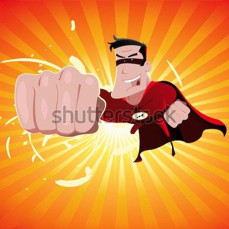 Voador ilustração feliz incrível poderoso Foto stock © benchart