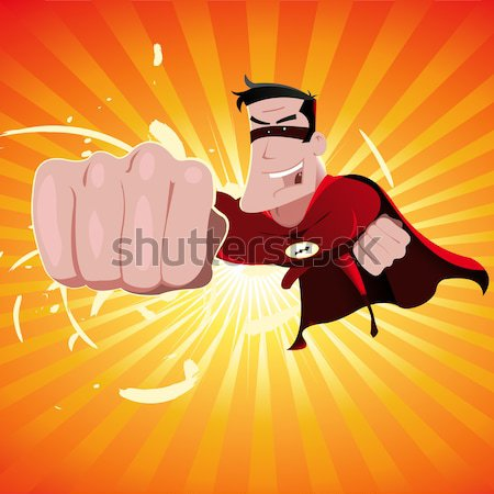 Battant illustration heureux puissant Photo stock © benchart