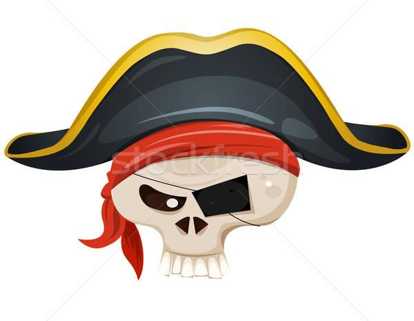 Pirate Skull Head Stock photo © benchart