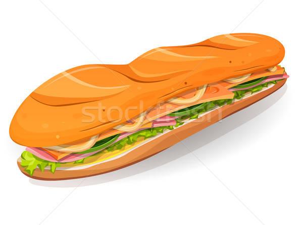 Clássico presunto manteiga francês sanduíche ícone Foto stock © benchart