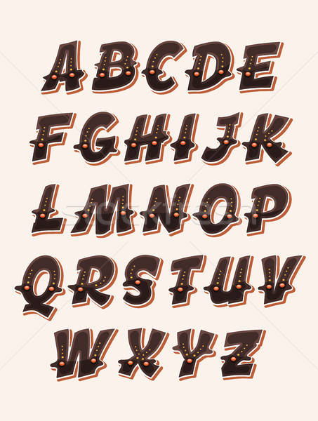 Comic Funny ABC Font Stock photo © benchart