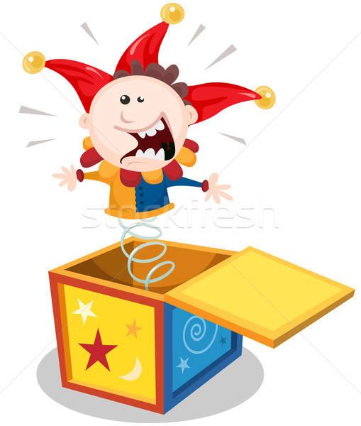 Cartoon Jack In The Box Stock photo © benchart