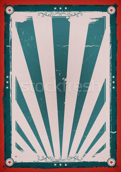 Negyedik klasszikus poszter illusztráció terv amerikai Stock fotó © benchart