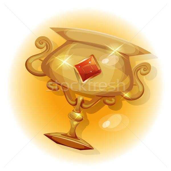 Ganadores oro trofeo juego ui ilustración Foto stock © benchart