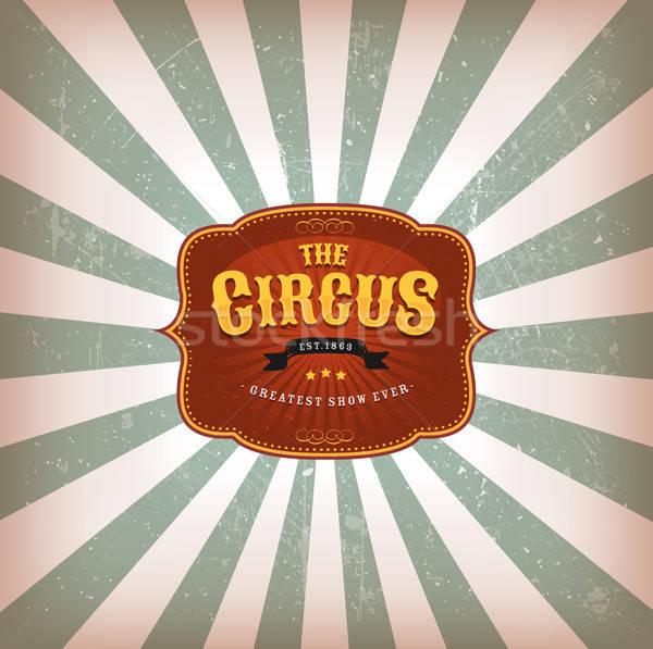 Retro circo texture illustrazione vintage classica Foto d'archivio © benchart