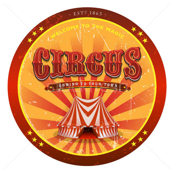 Circus Banner With Grunge Texture Stock photo © benchart