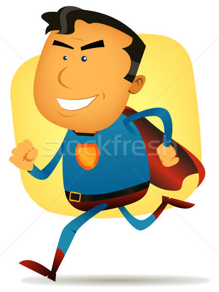 Comic Superhero Running Stock photo © benchart