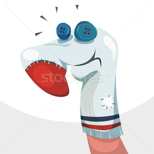 носок марионеточного характер иллюстрация смешные Cartoon Сток-фото © benchart