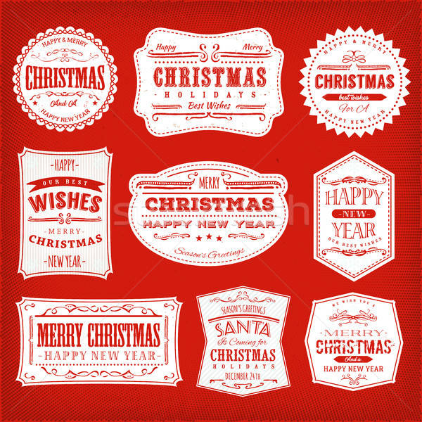 Christmas Frames, Banners And Badges Stock photo © benchart