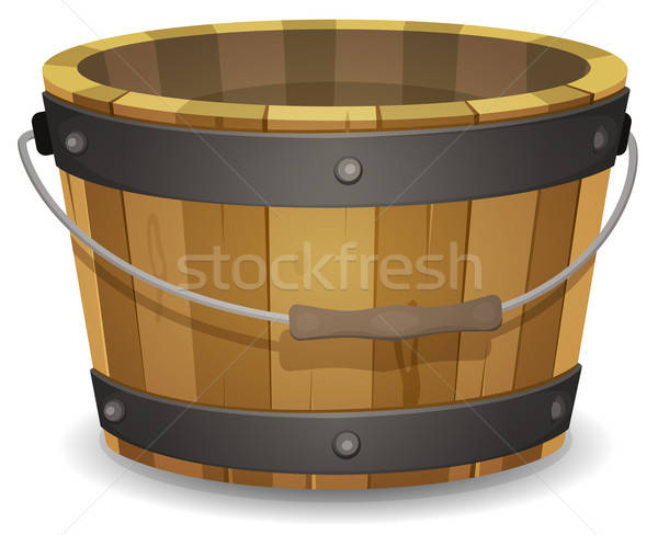 Cartoon Wood Bucket Stock photo © benchart