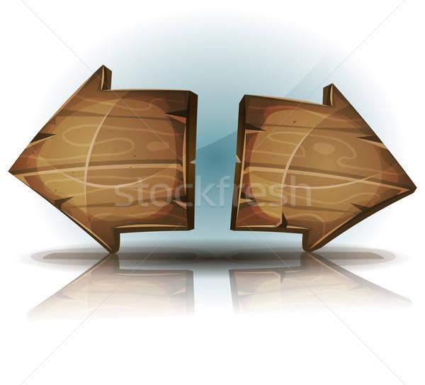 Nyilak feliratok ui játék illusztráció vicces Stock fotó © benchart
