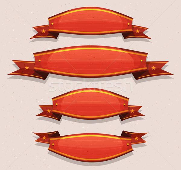 コミック 赤 サーカス バナー 実例 ストックフォト © benchart