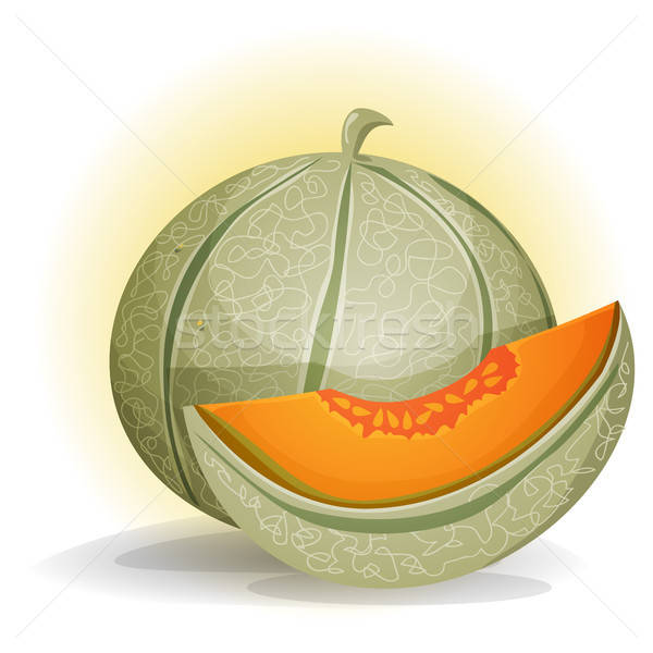 Melon illustration appétissant personnage alimentaire orange Photo stock © benchart