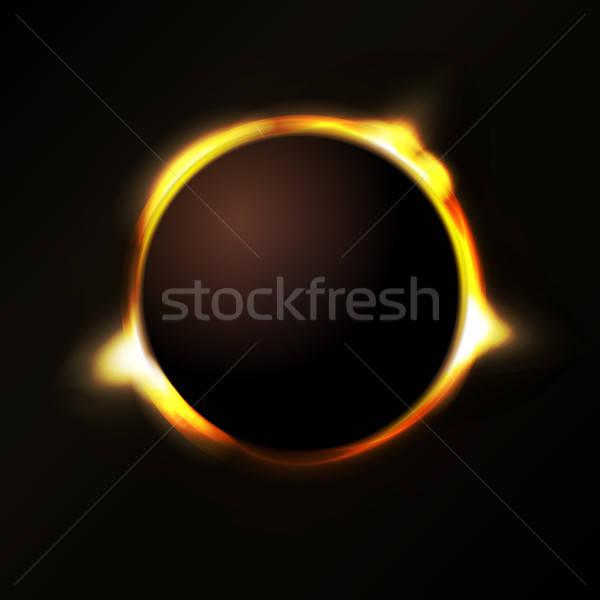 Nap fogyatkozás illusztráció sugarak fény nap Stock fotó © benchart