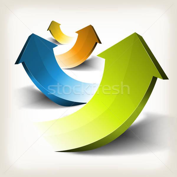 Negocios éxito flechas ilustración infografía Foto stock © benchart