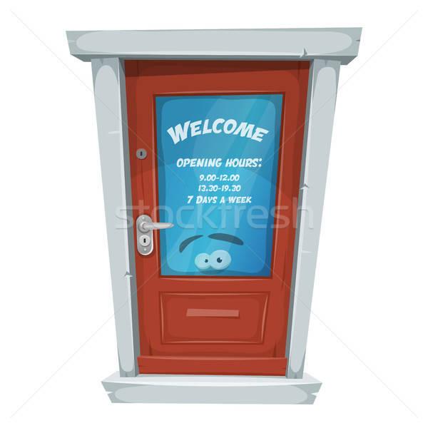 Shop Entrance Door With Opening Hours Stock photo © benchart