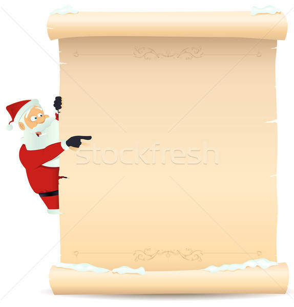 Santa Pointing Christmas List Stock photo © benchart