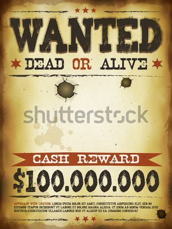 Wanted Vintage Western Poster On Chalkboard Stock photo © benchart