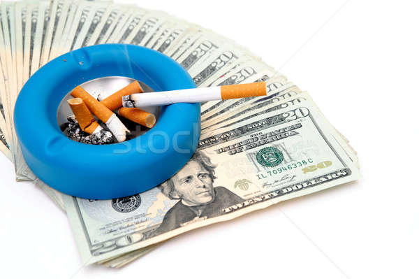 Cigarettes - Money Up In Smoke Stock photo © bendicks