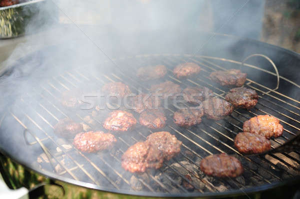 Barbeque Mini Burgers Stock photo © bendicks