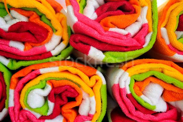 Playa toallas hasta listo Foto stock © bendicks