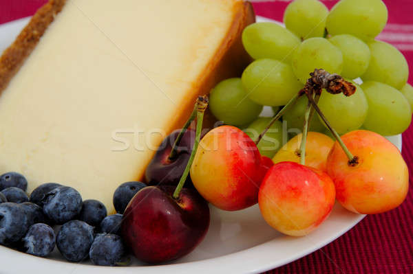 Cheese Cake With Fresh Fruit Stock photo © bendicks