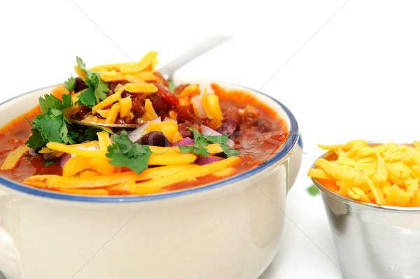 Bowl Of Chili Beans Stock photo © bendicks