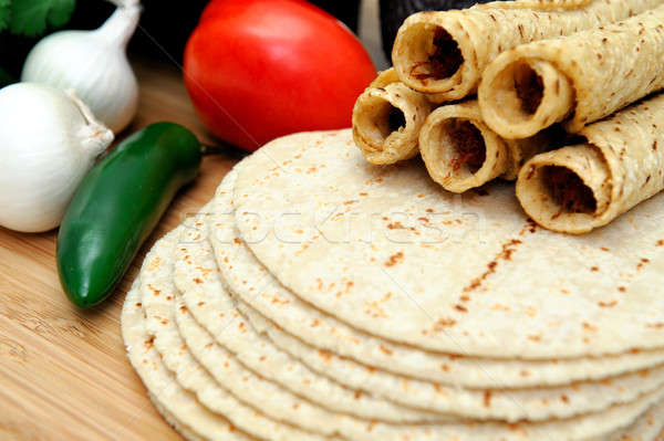 Corn Tortillas And Taquitos  Stock photo © bendicks