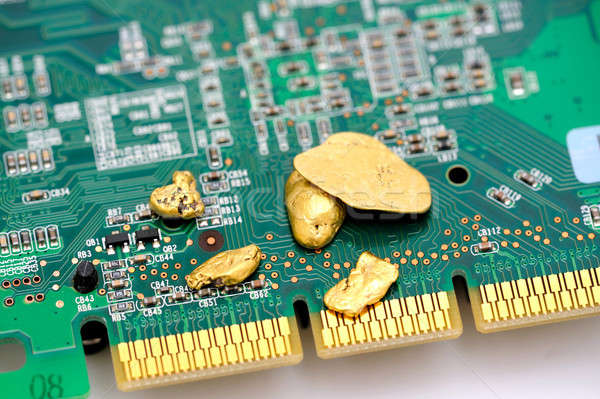 Gold And Circuitry Stock photo © bendicks