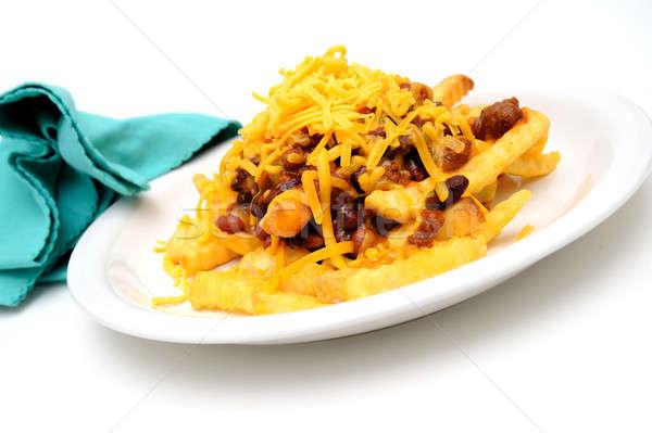 Chili Cheese Fries Stock photo © bendicks