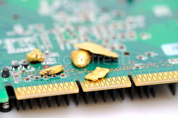 Gold And Circuitry Stock photo © bendicks