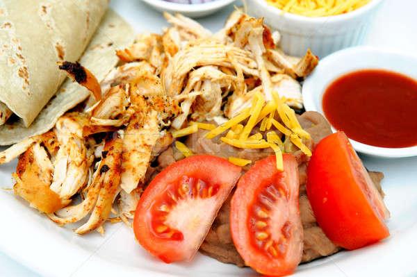 Grilled Shredded Chicken Stock photo © bendicks