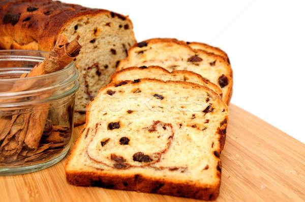 изюм хлеб корицей Ломтики из Сток-фото © bendicks