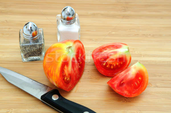 Vermelho amarelo tomates tomates cortar Foto stock © bendicks