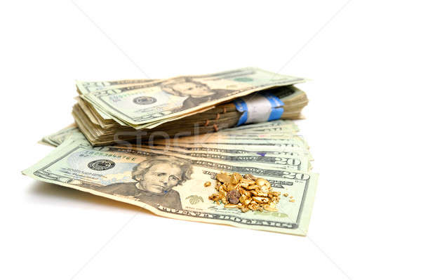 Cash And Gold Nugget Stock photo © bendicks