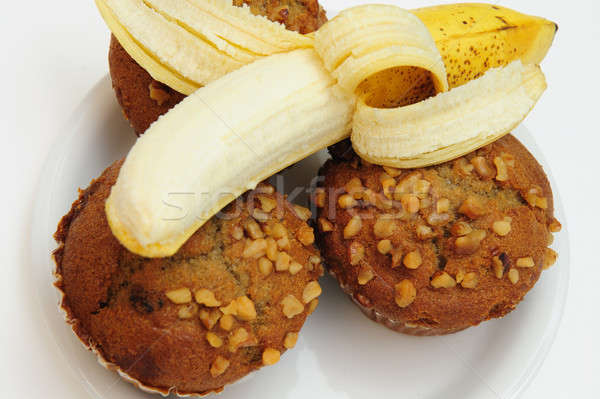 Banana And Muffins Stock photo © bendicks