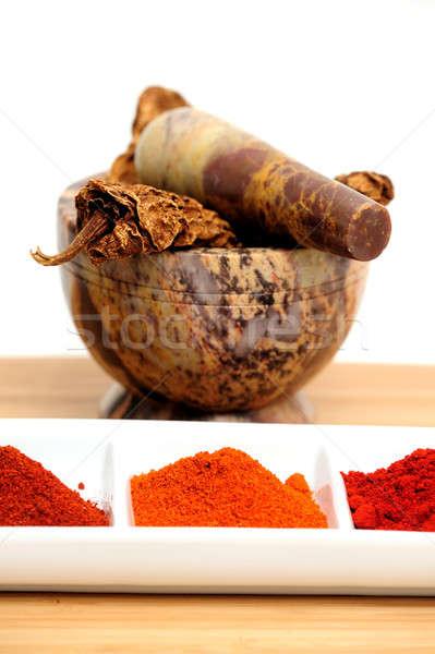 Mexicano humo secado utilizado salsa Foto stock © bendicks