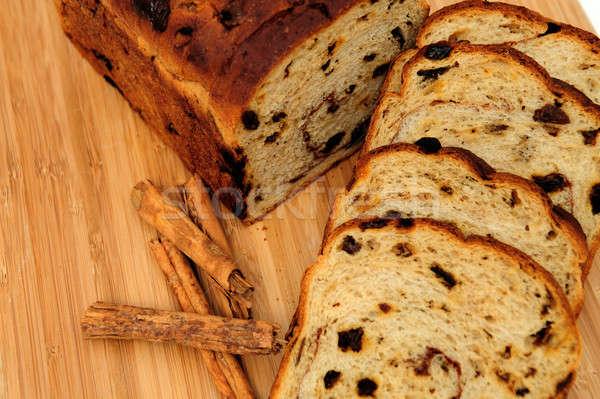 изюм корицей хлеб Ломтики из Сток-фото © bendicks