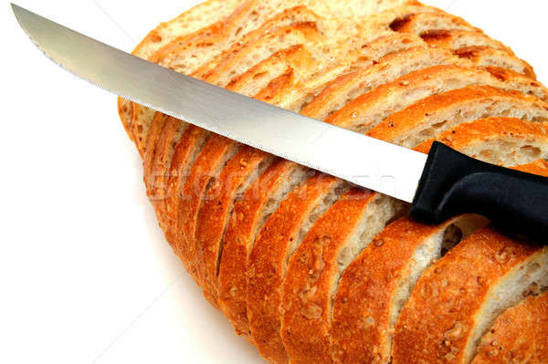 Cracked Wheat Sourdough Bread Stock photo © bendicks