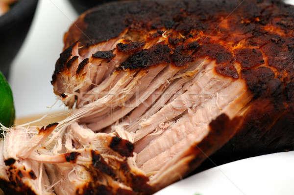 Primer plano mexicano cerdo cocido estilo Foto stock © bendicks