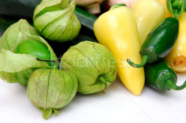Tomatillo And Chili Peppers Stock photo © bendicks
