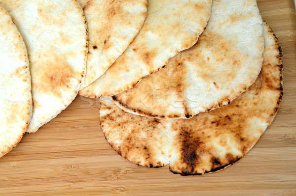 Pita chleba sześć górę Zdjęcia stock © bendicks