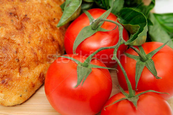 Tomatoes And Old Style Bread Stock photo © bendicks