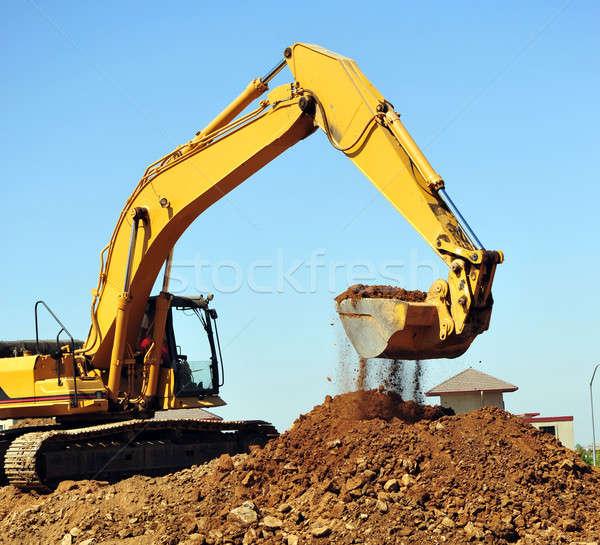 Excavator And Dirt Stock photo © bendicks