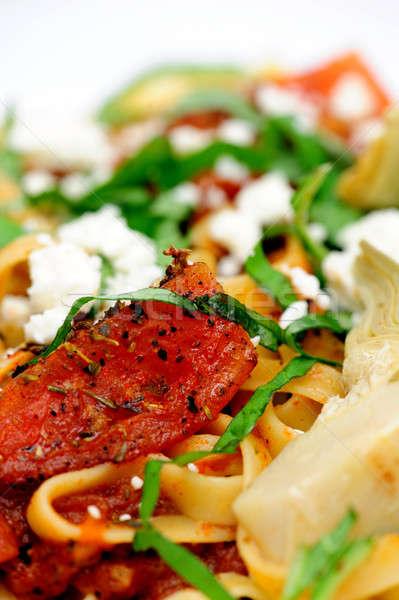Tomates manjericão fresco corações ervas Foto stock © bendicks