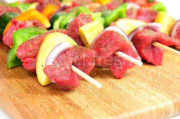 Steak Shish Kabob Stock photo © bendicks